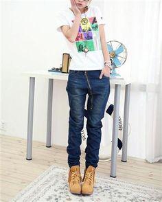 Solid Oblique Zipper Drop Crotch Low Rise Multiple Pockets Denim Women Jeans Cheap Jeans For Women, Jeans For Sale, Latest Fashion For Women, New Fashion, Korean Fashion, Cheap High Waisted Jeans, Venus Swimwear, Buckle Jeans, Drop Crotch Pants
