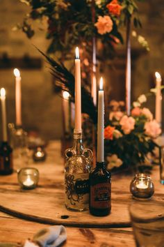 Table Tablescape Decor Decoration Flowers Candles Balloon Wedding Ideas Leesha Williams Photography #wedding #weddingcandles Luxe Wedding, Autumn Wedding, Balloon Wedding, Balloon Installation, Cottage Wedding, Black Balloons, Wedding Photos, Wedding Ideas, Fall Candles