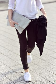 Zara Sweater + Mango Zippered Pants | Make Life Easier