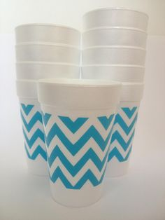 Turquoise chevron cups