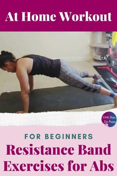 The best beginner band exercises for your core for women. Use these resistance band exercises for strengthen and tone your stomach and abs. This workout is perfect for weight loss and getting rid of that muffin top! Create that flat belly at home with a mini loop resistance band. #resistancebandworkouts #abworkoutsforbeginners Gym Workout For Beginners, Abs Workout For Women, Outdoor Workouts, At Home Workouts, Band Workouts, Ab Floor Workout, Resistance Band Exercises, Ab Exercises, Stomach Muscles
