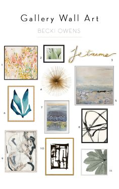 Art is the one of the easiest and most effective ways to update a space. It makes neutrals come alive, creates eye candy and reflects everyones individual tastes.I always feel like a space isn't complete until it has some pretty artwork to add color and give it personality.A gallery wall isone of my favorite ways …