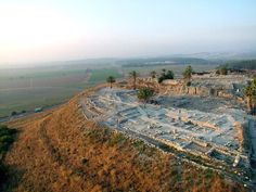 "*SOLOMON'S GATE"" - King Solomon's Gate: MEGIDDO, Israel - 1st of 3 Strategic ""Gateways"" into Eretz Yisrael, along with Hazor and Gezer: Megiddo, Israel - Remnants from King Solomon & King David's era. Across the small Ravine, behind the Tel  are foundations and walls of King Solomon's Palace."