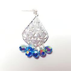 Capri Blue Cluster drop earring Capri Blue, Online Boutiques, Handcrafted Jewelry, Jewelry Design, Charmed, Drop Earrings, Elegant, Sweet, Classy