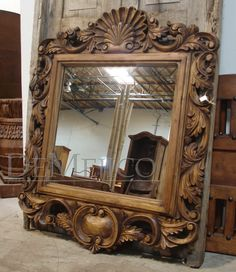 "<3 this Custom 3"" Carved spanish style mirror!! One word comes to mind no ""chinguen""! Gorgeous"
