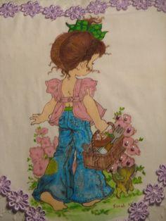 Textile painting. Sarah Kay pilt