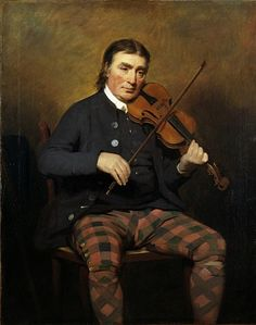 Niel Gow, 1727 - 1807. Violinist and composer (1787) by Sir Henry Raeburn | Niel Gow, Scotland's most famous fiddler and composer of strathspeys and reels,