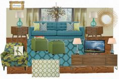 mid century living room - Google Search