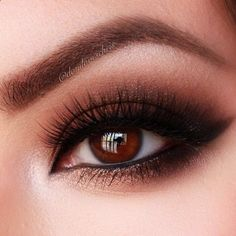 Warm, smoldering brown smokey eye.  A nice option if black seems too harsh.