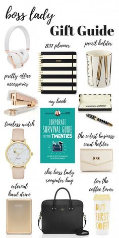 Boss Lady Gift Guide! We all know a boss lady when we see one! So what do you buy a boss lady who's on her way to having everything she's ever wanted? Well, here are a few ideas to get you started!