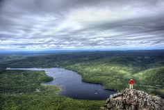 Have you seen a view of 10 million trees stretched out before you? It's amazing - experience it for yourself at Mount Carleton Provincial Park in New Brunswick, Canada. Backpacking Trails, Hiking Trails, Hiking Gear, Hiking Boots, New Brunswick Canada, Canada Summer, East Coast Travel, Visit Canada, Camping
