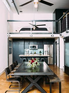Kitchen Design, Outstanding Ceiling Fan In Kitchen With Gybsum Ceiling And Silver Iron Ceiling Fan Also Planting Bulbs Ceiling Side And Black Sofa On Second Floor Featuring Kitchen Set On Ground Floor And Kitchen Wooden Flooring: How to Choose a Ceiling Fan in Kitchen