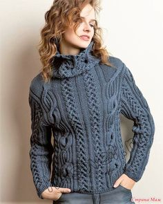 07c0fc64447028 Модная модель женского свитера с косами с бесплатным описанием и схемами  вязания. Lavish Craft · Knitting in Fashion