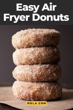 Simple Air Fryer Donuts For Your Sweet Cravings Donut shops give us two things we all need in life: appetizing snacks and convenience. But if you have an air fryer, you can save yourself time and money by making delicious donuts at home. Air Fryer Recipes Chips, Air Fryer Recipes Potatoes, Air Fry Recipes, Air Fryer Dinner Recipes, Air Fryer Recipes Easy, Donut Recipes, Cooking Recipes, Cheap Recipes, Cooking Tips