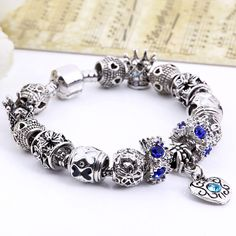 Silver Charm Retro Bracelet