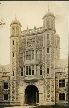 Law Quadrangle at the University of Michigan in Ann Arbor, Michigan, 1935