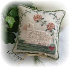 Very pretty, but OH! All those French knots!   Photobucket
