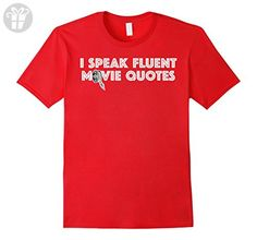 Mens I Speaks Fluent Movie Quotes - Funny Movie Sayings T-Shirt 2XL Red - Funny shirts (*Amazon Partner-Link)