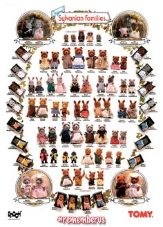 We're well on our way down memory lane now as we remember the last 30 years of Sylvanian Families!  So... who had one of these? That's right, this was the very first edition of the Collector's Name Poster. Did you have one? Who was your favourite character and do you still have them? #rememberus #borninthe80s