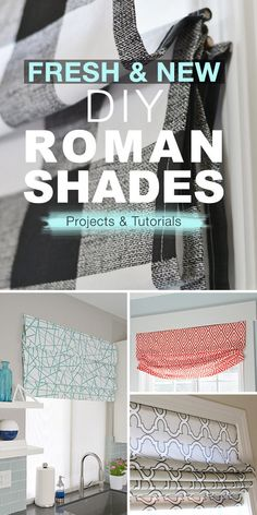 DIY Home Decor Ideas : Illustration Description Fresh & New DIY Roman Shades! Lots of new and up to date Roman Shades. Fun and easy home decor projects. Diy Blinds, Diy Curtains, Plywood Furniture, Chinoiserie, Diy Roman Shades, Diy Window Shades, Fabric Roman Shades, Shabby, Home Remodeling Diy