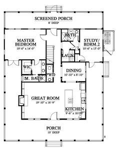 White Hall House Plan Design from Allison Ramsey Architects Barn House Plans, Dream House Plans, Cabin Plans, Small House Plans, House Floor Plans, Story Planning, Bedroom Floor Plans, Cottage House Plans, House Blueprints