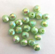 Large Faceted Square Glass Crystal Beads 13 mm for Jewellery Making x 25