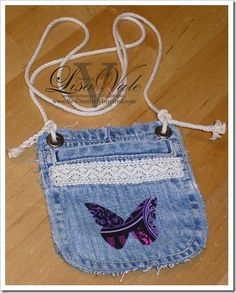 Recycled jeans coin purse