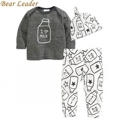 Bear Leader Baby Clothing Sets 2016 Autumn Baby Boys Clothes Long Sleeve  T-shirt+Pants+Hats 3Pcs Suits Children Clothing #>=#>=#>=#>=#> Click on the pin to check out discount price, color, size, shipping, etc. Save and like it!