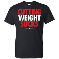 Cutting Weight Sucks v2 Wrestling T-Shirt-size small More