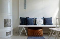 pillowcases / elinarebers.fi Pillowcases, Textile Design, Entryway Bench, Patterns, Furniture, Home Decor, Entry Bench, Block Prints, Pillow Case Dresses
