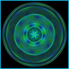 Lebensblume Torusmandala, mehrfarbig, rein weibliche Form