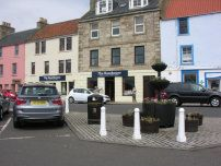 Boathouse, Anstruther on the harbour front normally has a couple of guest ales on tap and offers quality food