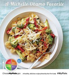 Sun Dried Tomato and Broccoli Pasta #myplate #letsmove #pastas