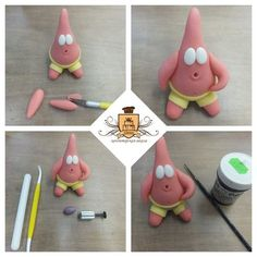Polymer Clay Projects, Polymer Clay Creations, Diy Clay, Polymer Clay Disney, Polymer Clay Art, Fondant Figures, Clay Figures, Diy Crafts For Gifts, Crafts For Kids