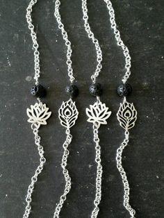 Essential Oil Diffuser Bracelet  Lava Rock Minimalist  --- Aromatherapy Jewelry (12.00 USD) by AuraStrands