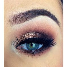5 Ways to Make Blue Eyes Pop with Proper Eye Makeup Her Style Code ❤ liked on Polyvore featuring beauty products, makeup and eye makeup