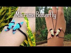 Macrame Butterfly Halskette oder Armband Tutorial - Makrame Simple Home Decor Armband Tutorial, Macrame Bracelet Tutorial, Necklace Tutorial, Macrame Necklace, Macrame Jewelry, Macrame Bracelets, Loom Bracelets, Wire Earrings, Diy Necklace