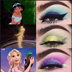Teens Makeup These Makeup Designs Inspired by Your Favorite Movies and TV Shows Are Everythin. Disney Character Makeup, Disney Eye Makeup, Disney Inspired Makeup, Disney Princess Makeup, Eye Makeup Art, Fairy Makeup, Mermaid Makeup, Makeup Geek, Show Makeup