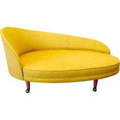 Reupholster color for chaise in my room -- Adrian Pearsall for Craft Associates Curved Chaise modern day beds and chaises Funky Furniture, Design Furniture, Unique Furniture, Vintage Furniture, 1960s Furniture, Vintage Chairs, Chair Design, Chaise Lounges, Fainting Couch