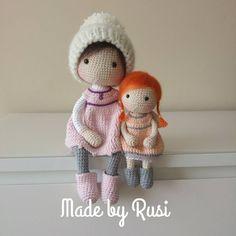 Hello! #crochet #crochetdoll #amigurumi #amigurumidoll #handmade #madebyrusi #rusidolls
