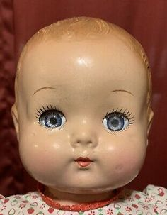 """Big 16"""" Effanbee Kid Vintage Composition Baby Doll Mystery Name? 