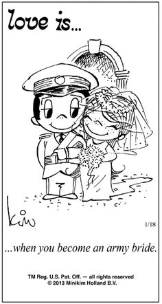 Love Is...when you become an army bride