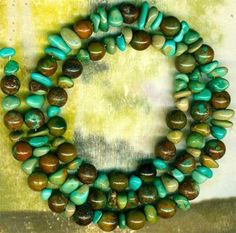 """Mexican Campo Frio Turquoise Beads 6mm Rounds More 16"""" Strd 100 Genuine 