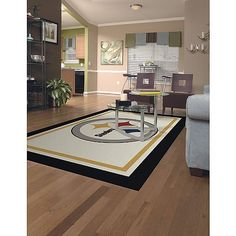 Miliken & Company Pittsburgh Steelers 5-Ft. 4-In. x 7-Ft. 8-In. Spirit Area Rug:Amazon:Sports & Outdoors
