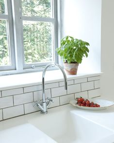 Kitchen ceramic subway tile