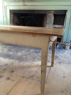 Old Fireplace and Table
