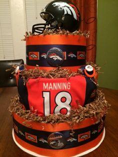 Denver Broncos Diaper Cake I made