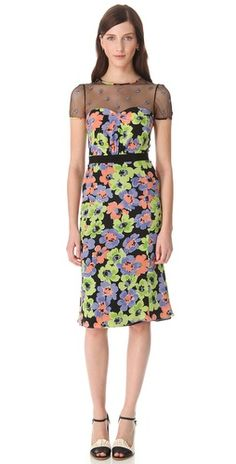 e0a71abf4a Missoni Floral dress with sheer neckline