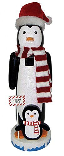 North Pole Penguins Wearing Scarfs Wooden Christmas Nutcracker 14 Inch Santa's Workshop http://www.amazon.com/dp/B0134N0EAA/ref=cm_sw_r_pi_dp_.E0cwb0Z2EMWB