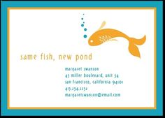 New Pond moving announcement